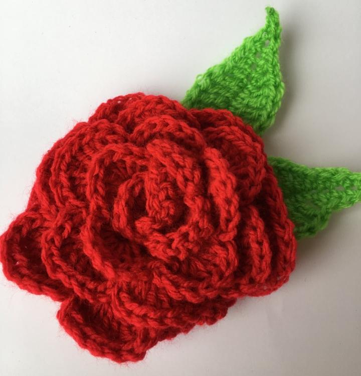 Mi rosa de Sant Jordi y mas ideas para el día de la madre acrochet